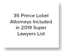35 Prince Lobel Attorneys Included in 2019 Super Lawyers List