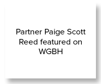 Partner Paige Scott Reed was featured on WGBH