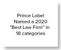 "Prince Lobel Named a 2020 ""Best Law Firm"" in 18 categories"